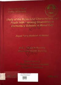 Image of Study Of The Behavioural Characteristics Of Puplis With Learning Disabilities In Elementary Schools In Mousl City