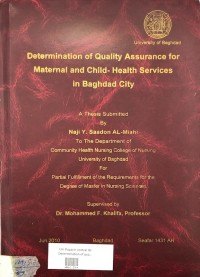 Image of Determination Of Quality Assurance  For Maternal  And Child Health Services  In Baghdad City
